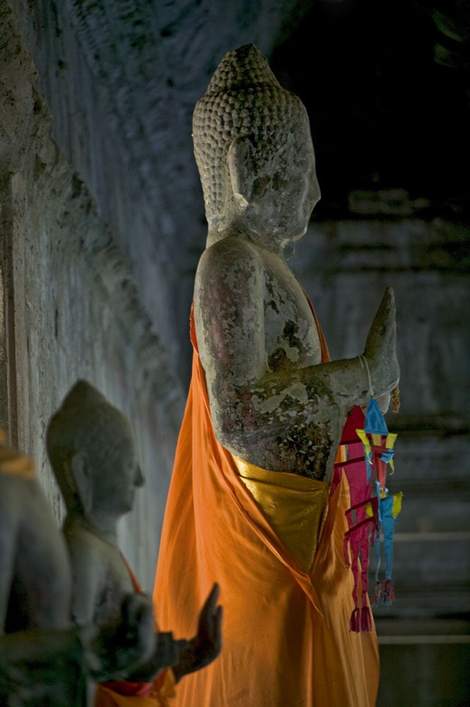 Buddha inside the main temple of Angkor