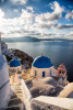The Blue Domed Churches of Oia, Greece