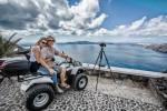 Holly and I havig a blast on Santorini