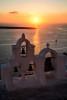 Amazing Oia in Santorini, Greece at sunset