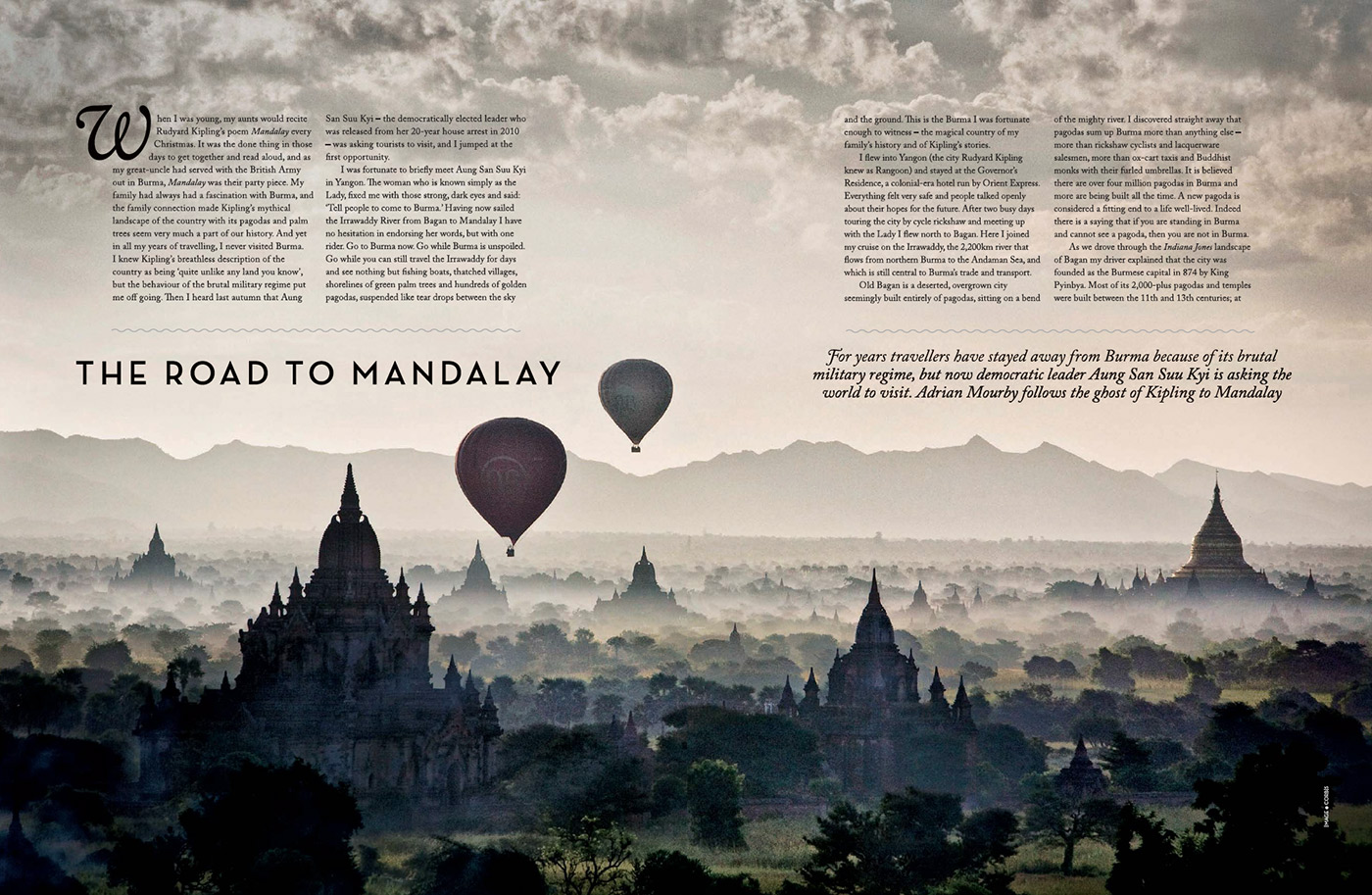 magazine article on Burma