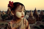 Sunset in the temples of Pagan with my favorite litle girl in the world, San San