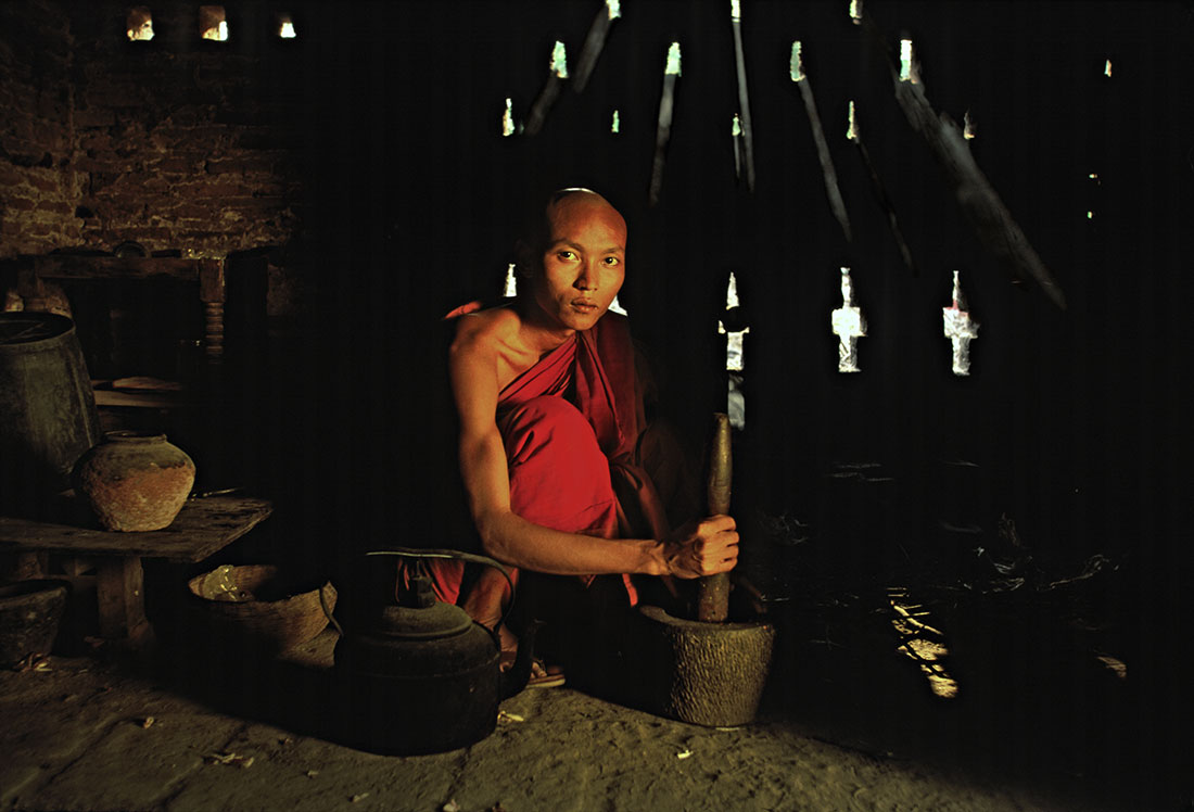 Monk in his monastery