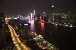 above Shanghai at night