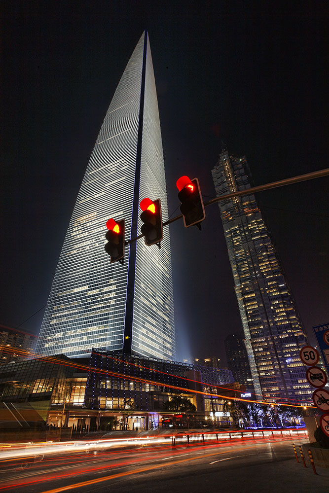 the world financial tower in shanghai