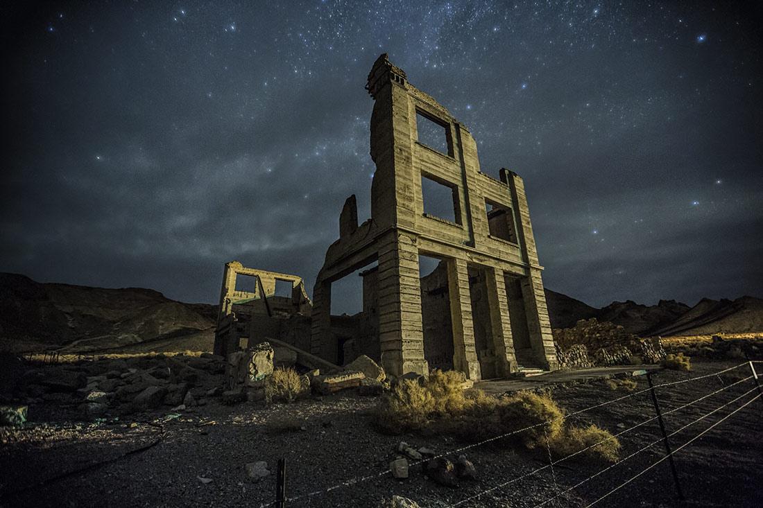 Rhyolite Ghost Town near Beatty, Nevada