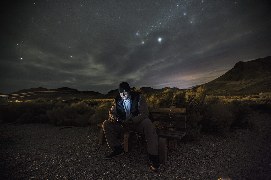 LJ under the stars, Death Valley workshop, 2013