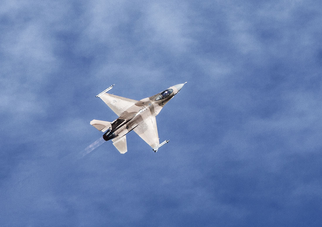 an F16 flying overhead