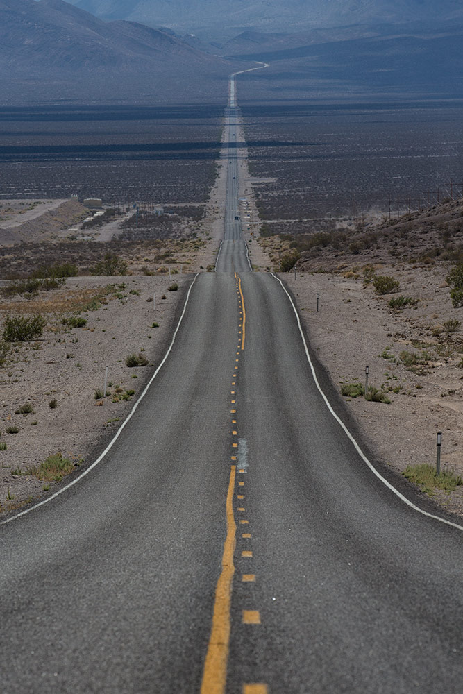 The super long road from Beatty to DV
