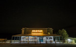The Stovepipe general store after dark