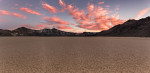 Sunset panorama on the Racetrack