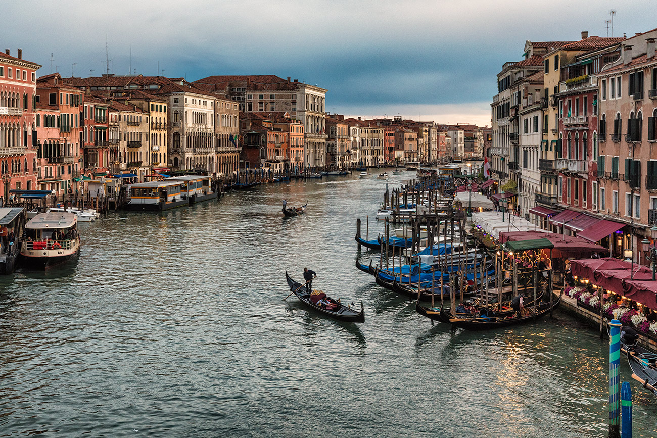 The Grand Canal and Gondolas of Venice