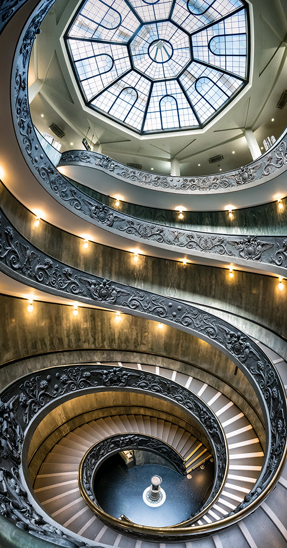 The Momo spiral staricase in the Vatican