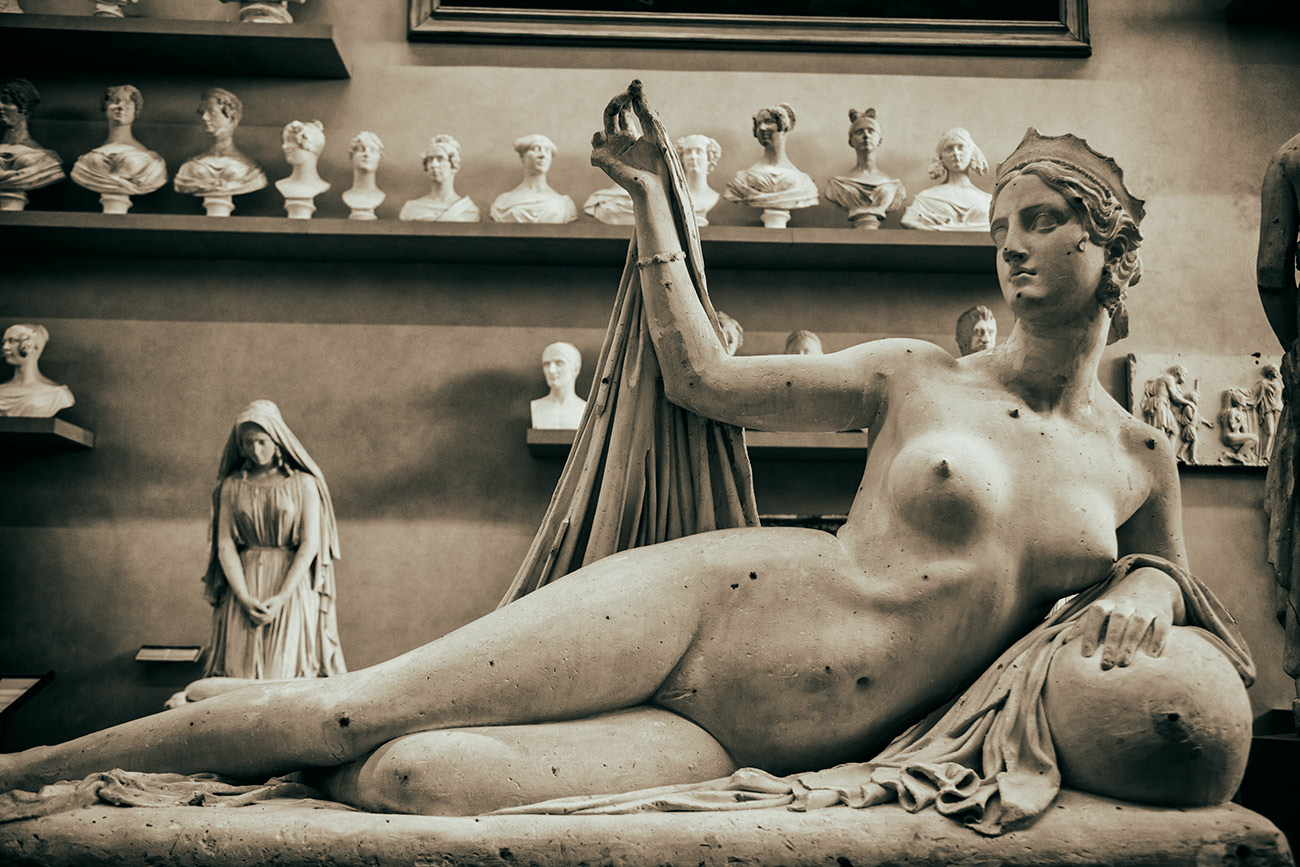 Sculpture inside the Academia Museum, Florence