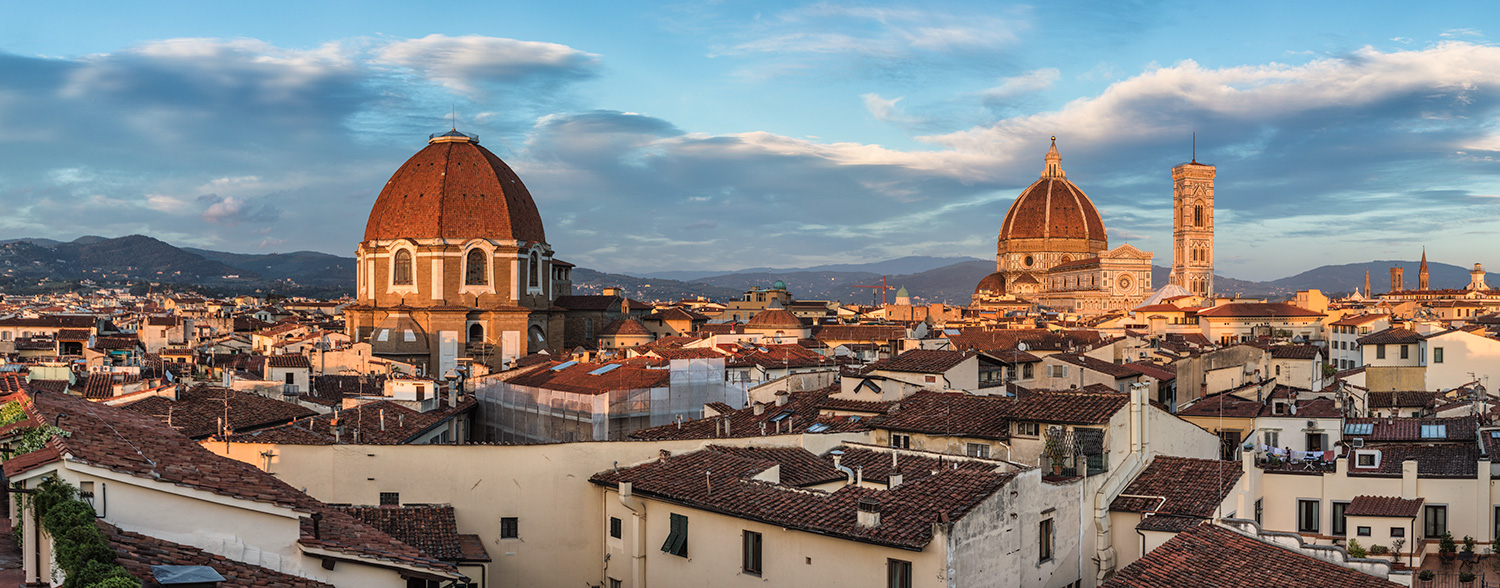 Above the rooftops in Florence