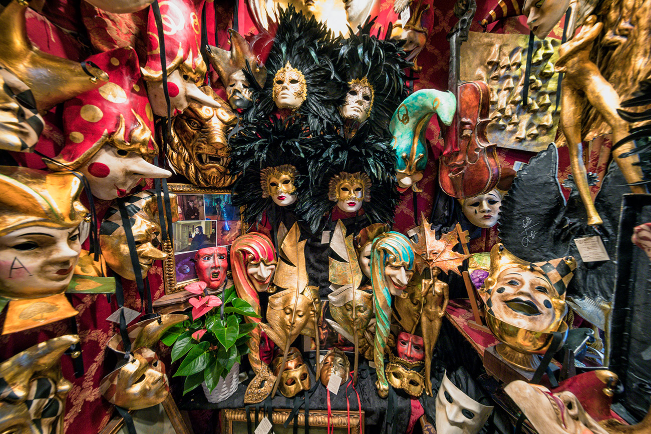 Sergios mask shop in Venice