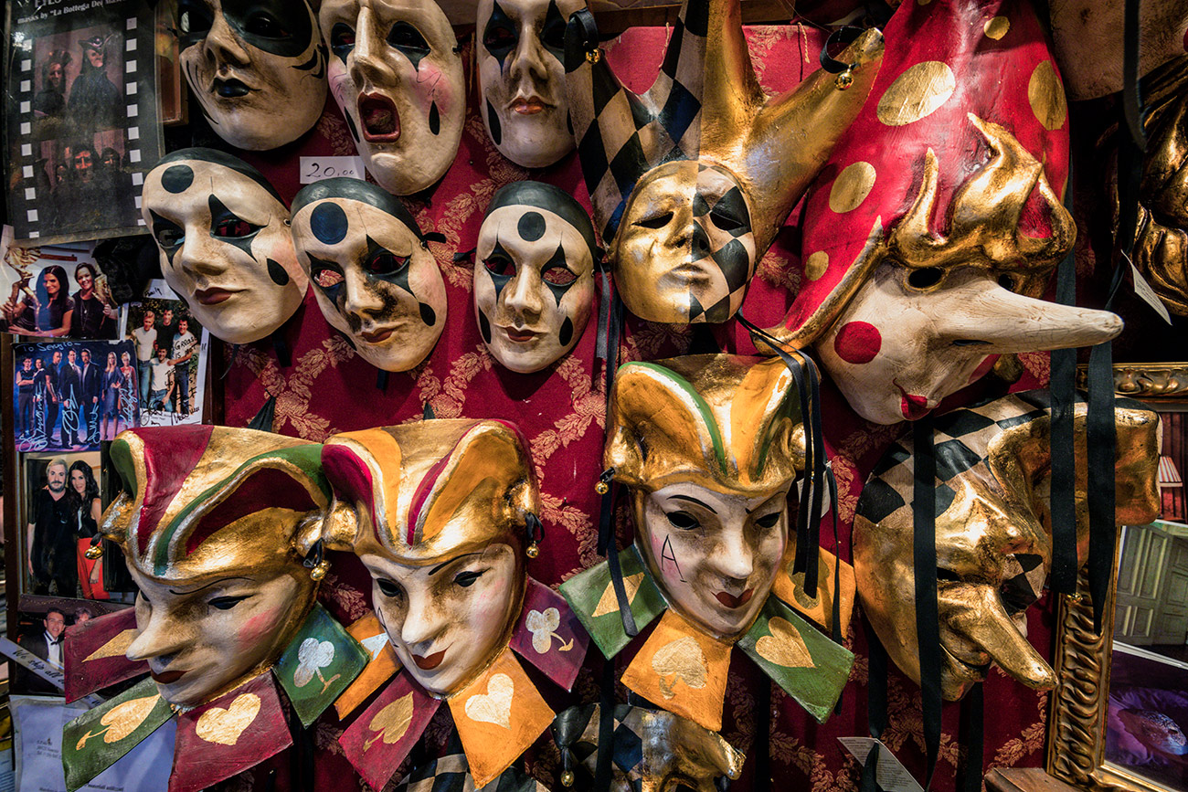 Sergios mask shop in Venezia
