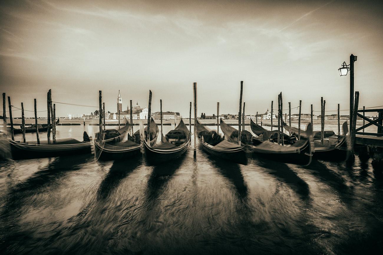 The gondolas of Venezia
