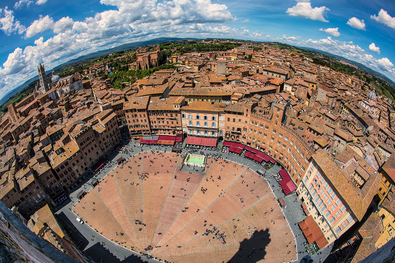 The Piazza del Campo in Siena