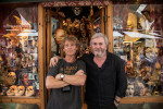 Sergio and me at his mask shop in Venice
