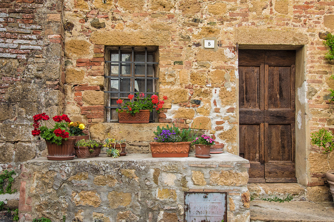 Beautiful Monticiello in Tuscany