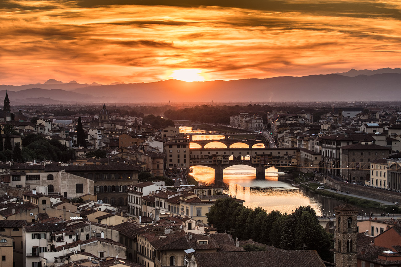 Florence from above after dark