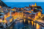Vernazza in the Cinque Terre after dark
