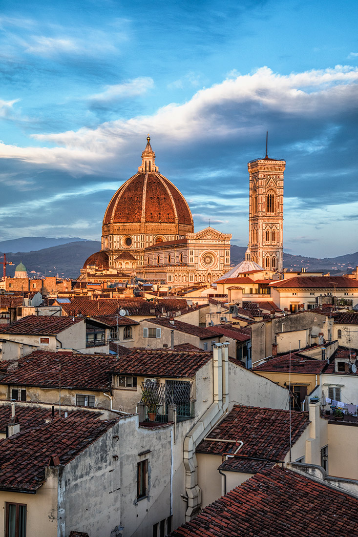 Red rooftops and the Duomo in Florence