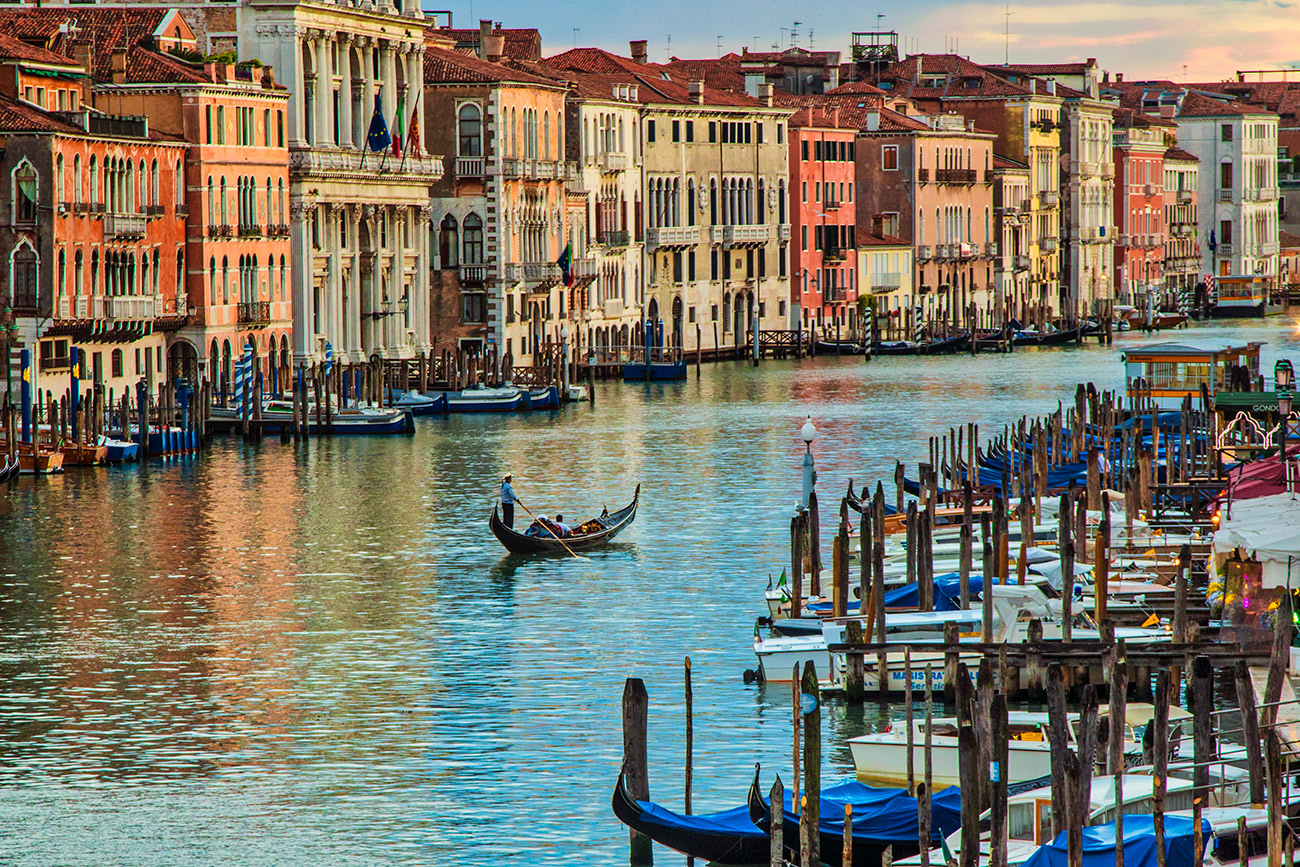The beautiful Grand Canal in Venice, Italy