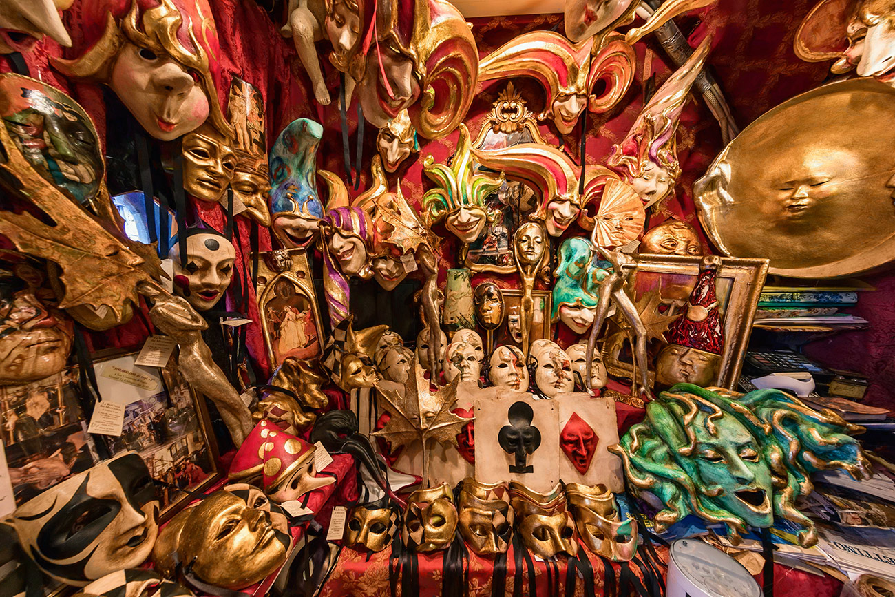 Sergio's mask shop in Venice