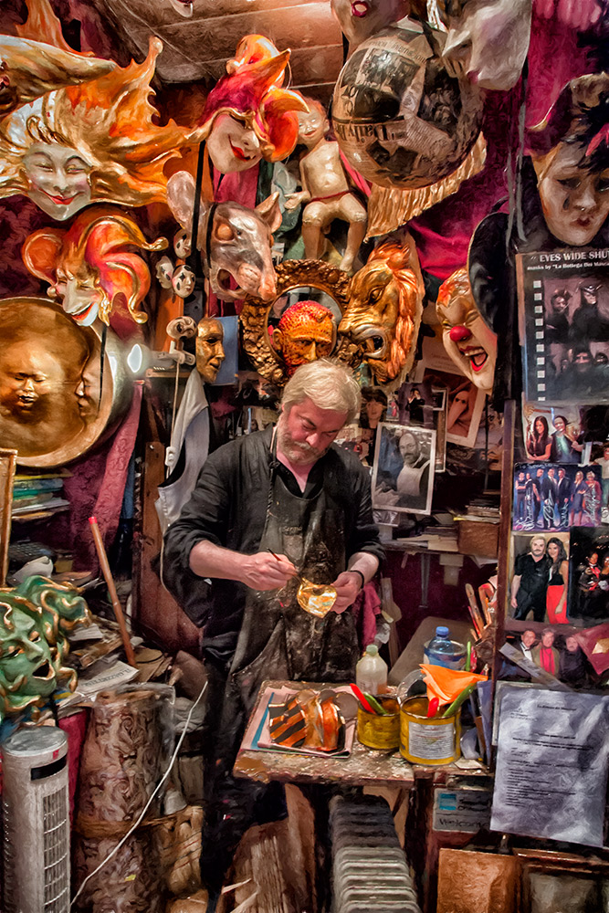 Holly's shot of Sergio, my favorite mask maker