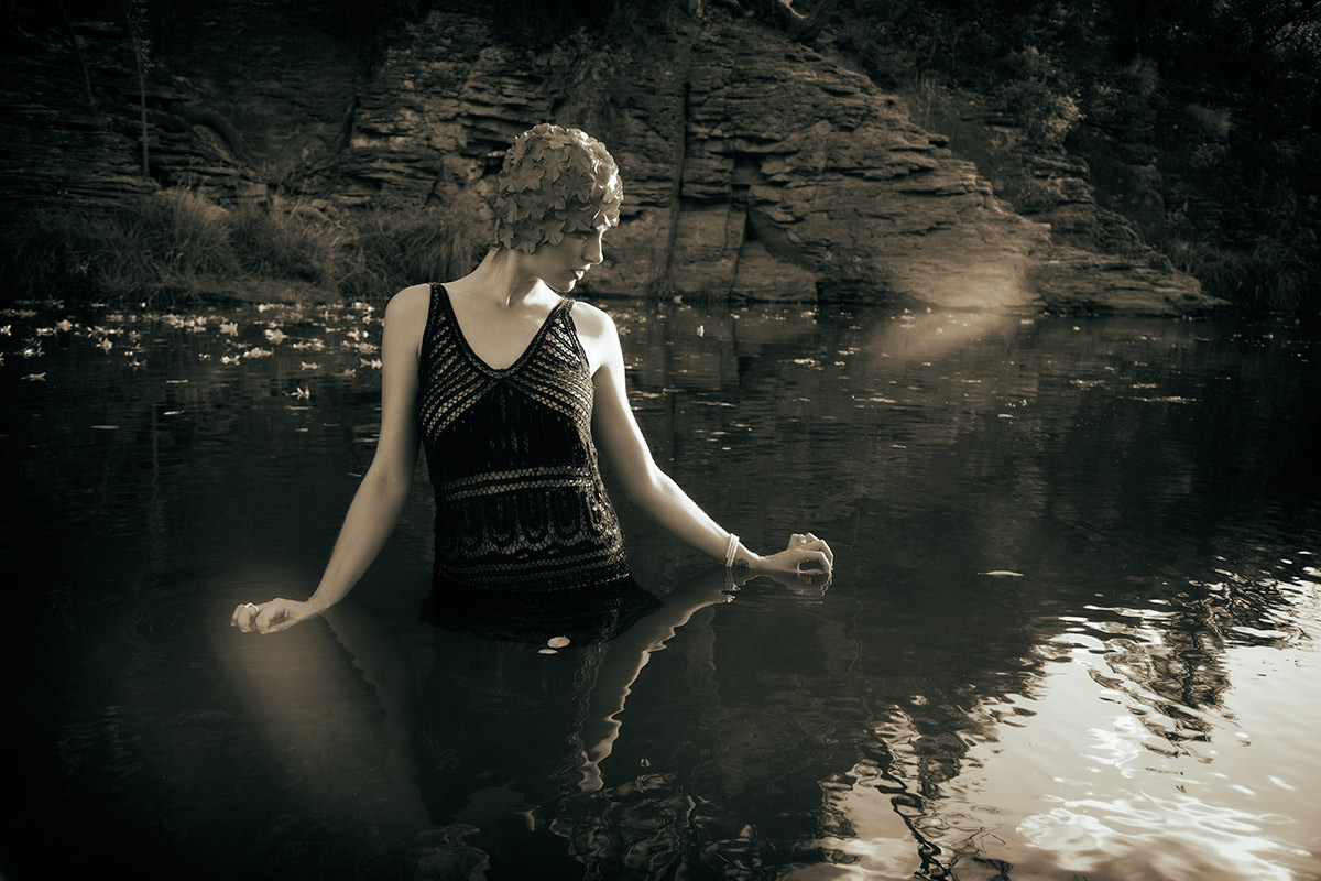 Beautiful Lauren in the Oak Creek River