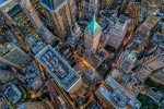 Amazing New York City at dusk from above
