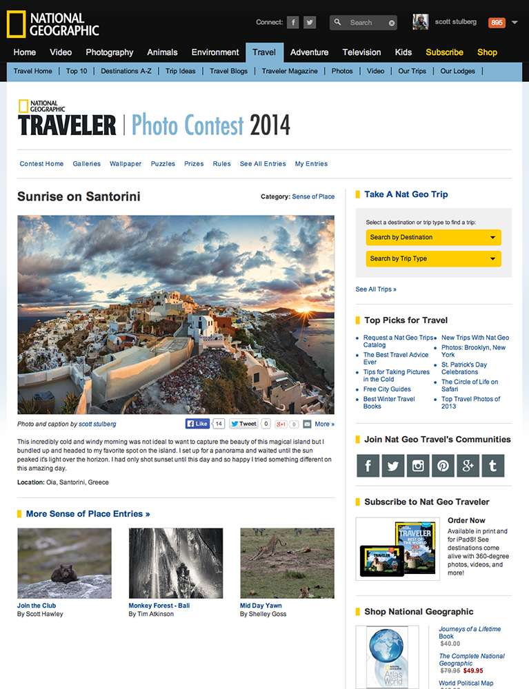 National Geographic travel contest