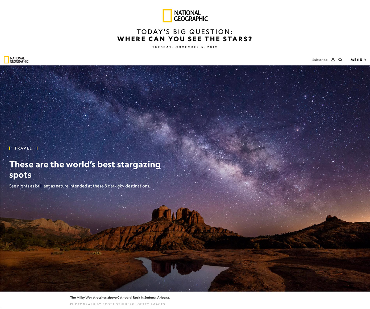 National Geographic Stargazing Article
