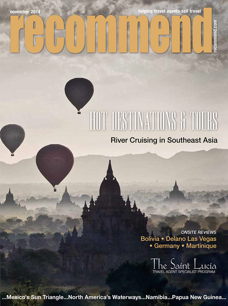 Nov. 2014 cover for Recommend Travel Magazine