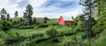 Panorama of Tracy's gorgeous home and barn