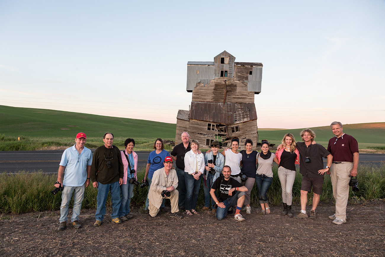 The group at the Monster grain elevator