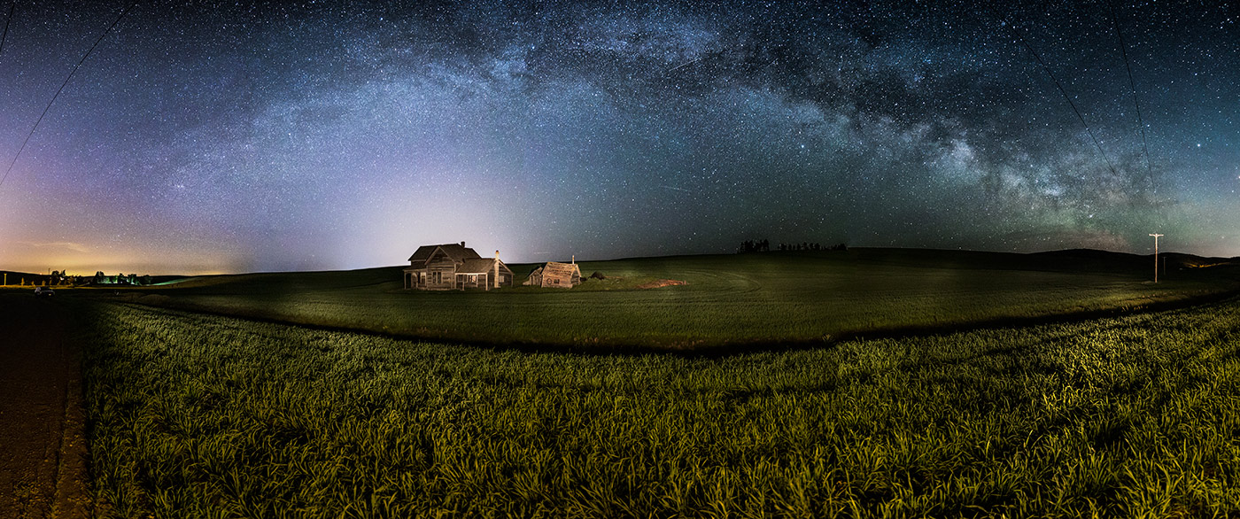 The Milky Way above The Weber house