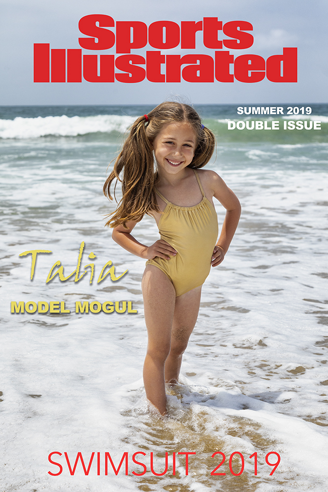 My cousin Talia in a mock up fun cover of SI
