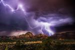 Amazing lightning storm over Sedona