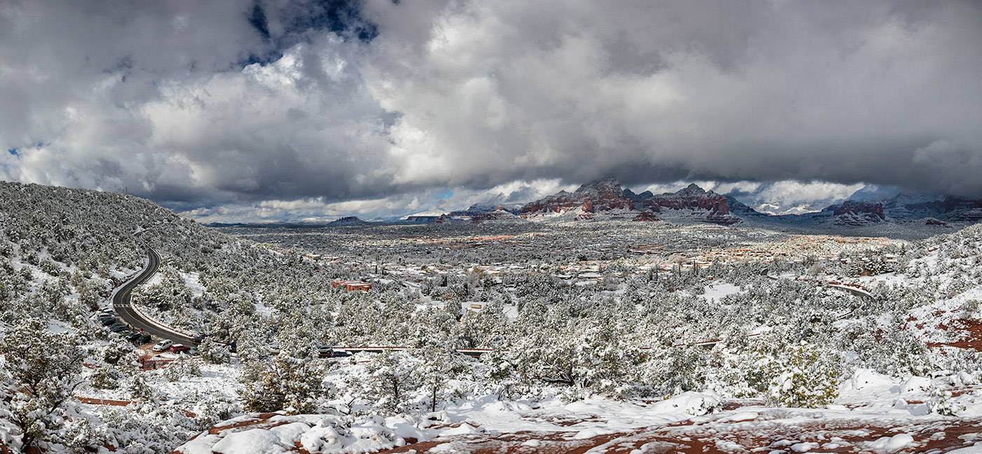 Fresh snow over Sedona, Christmas Day 2017