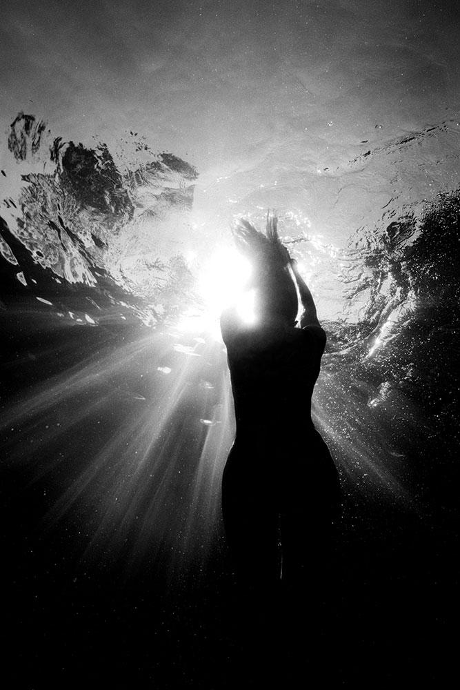 Candra underwater....