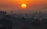 Stunning sunrise over Bagan