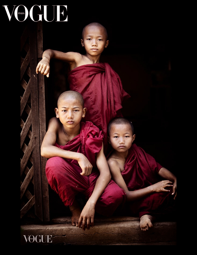 My little buddies in Burma