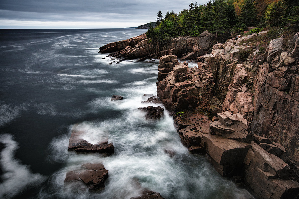 The cliffs at Acadia National Park in Maine