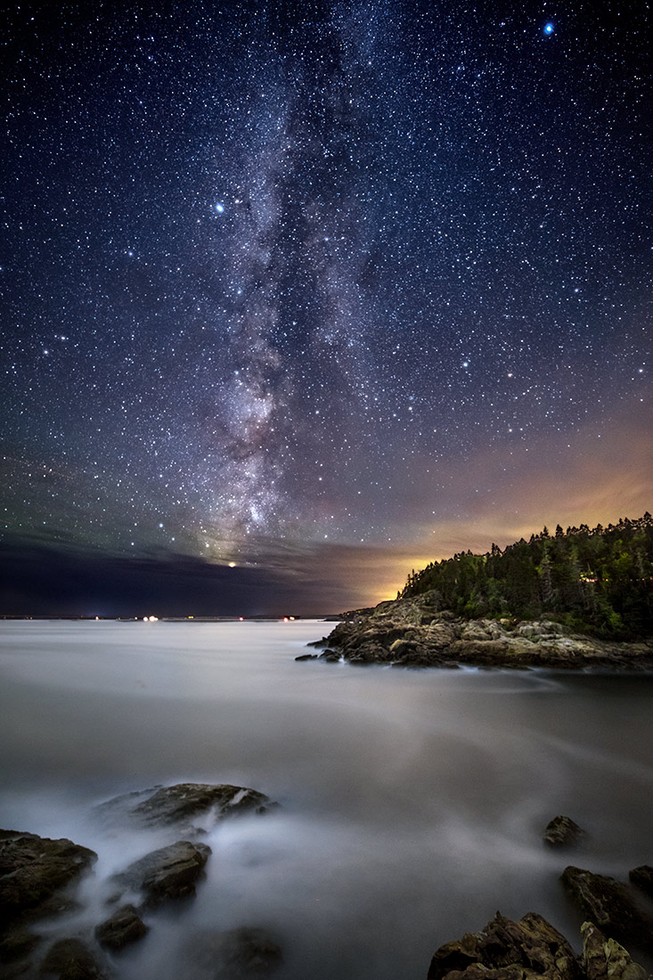 The Milky Way off of Acadia National Park