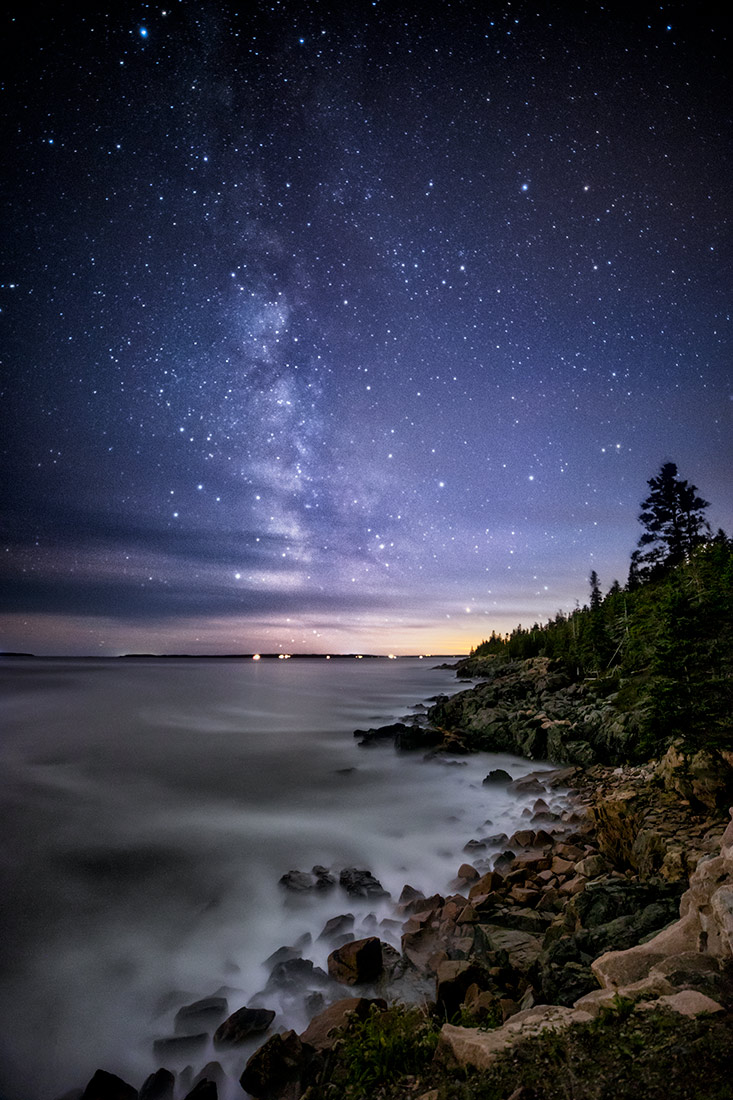 The Milky Way over Acadia