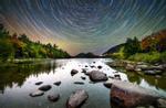 Star Trails over Jordan Pond