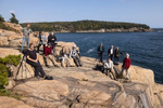 Our amazing group on the cliffs of Acadia